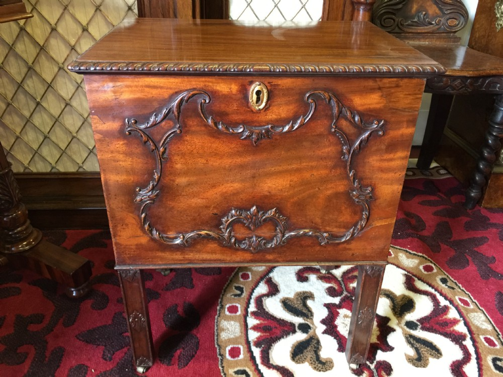 a superb important george iii mahogany cellaret or wine cooler