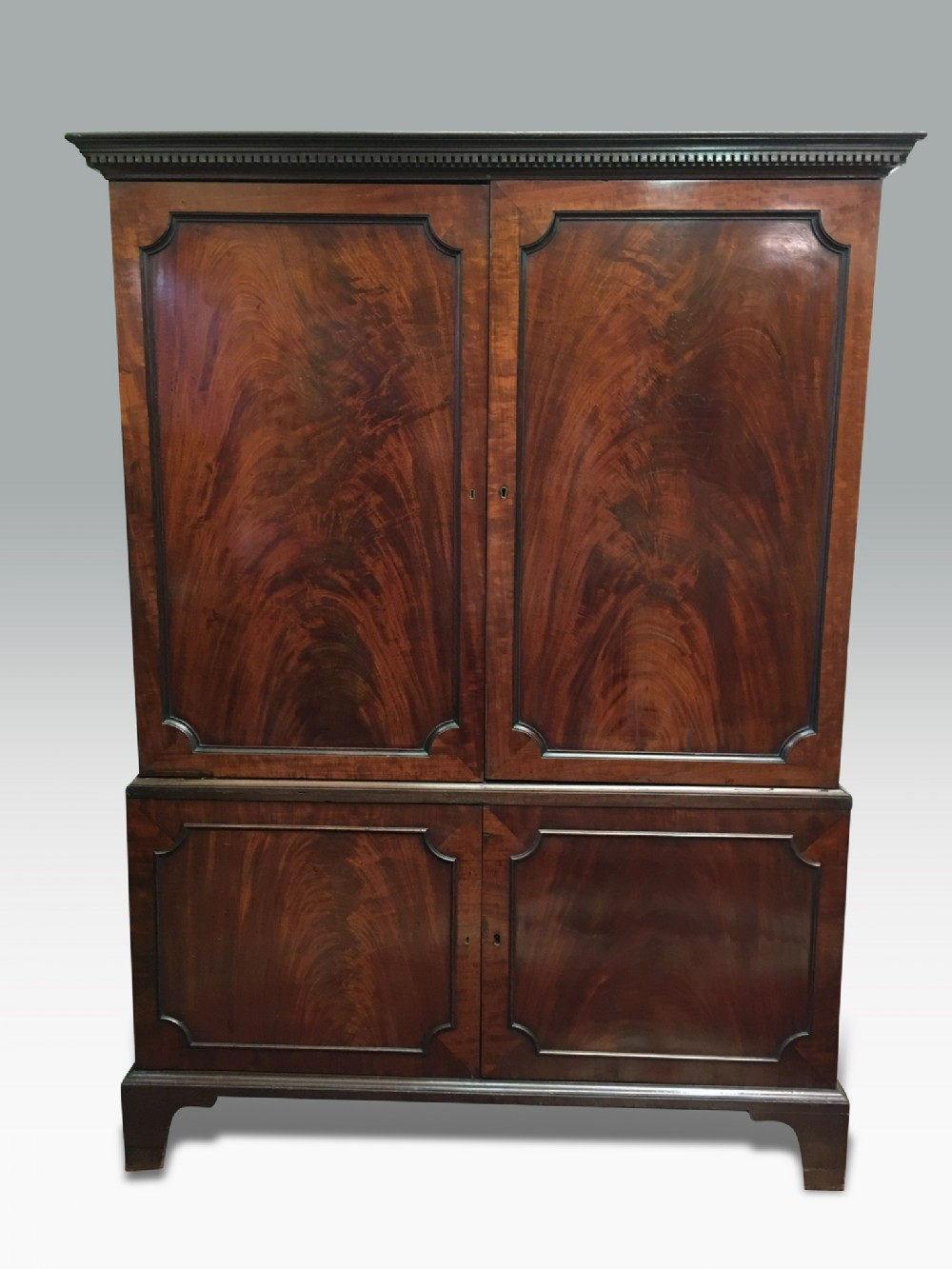 a superb george iii mahogany press or estate cabinet