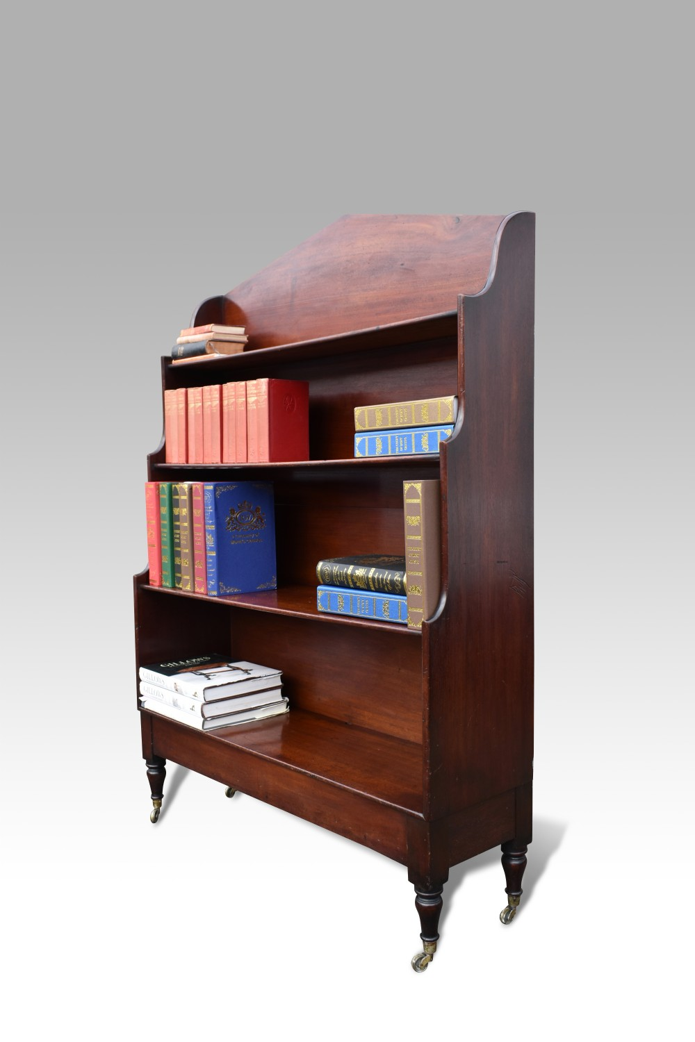 a william iv mahogany waterfall bookcase
