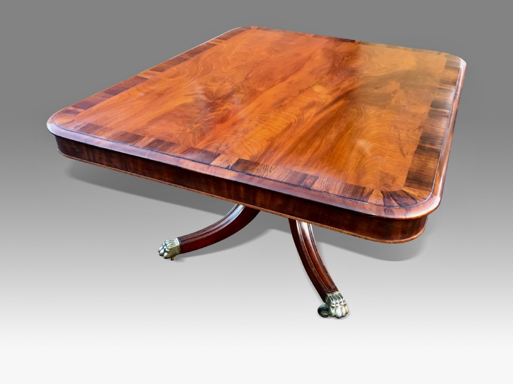 a good large regency mahogany rosewood breakfast or dining table
